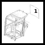 KOmatsu PC35 MR-2 Hátsó szélvédő , 22M-54-24241